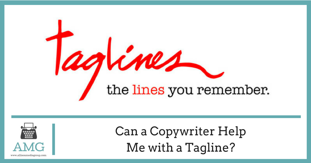 Can a Copywriter Help Me with a Tagline?